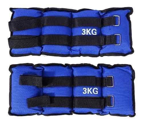 Pesas 3kg Tobillera Muñequera Entrenamiento Doble Velcro
