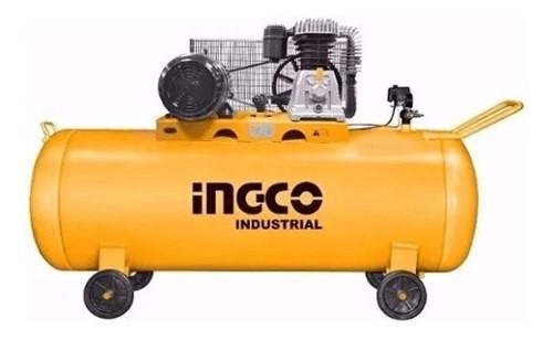 Compresor De Aire Ingco 4 Hp 200 Lts Industrial