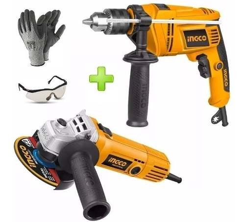 Kit Explosion Taladro Percutor 650w+ Amoladora 750w +regalos
