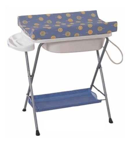 Bañito Para Bebé Plegable Con Cambiador Pañalera Y Desagüe