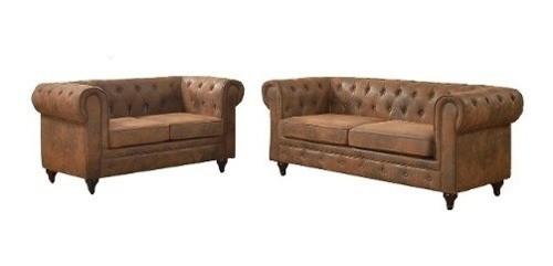 Set De Dos Sofás/sillones Chesterfield 2 Y 3 Cuerpos