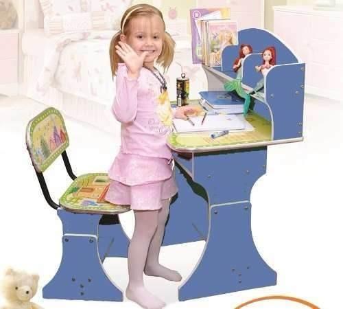 Niños Set Infantil Escritorio Más Silla Mueble Dormitorio