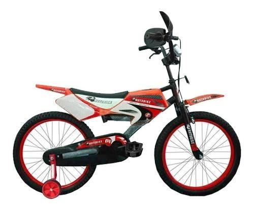Bicicleta Motobike Rodado 16 Niño Niña 100% Armada