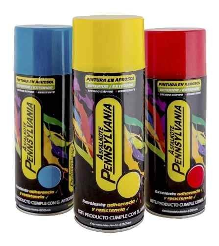 Spray Aerosol De Pintura Colores Brillantes 400 Ml