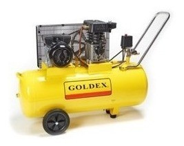 Compresor De Aire Monofásico 3hp 100lt. Goldex