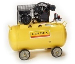 Compresor De Aire Monofásico 3hp. 200lt. Goldex