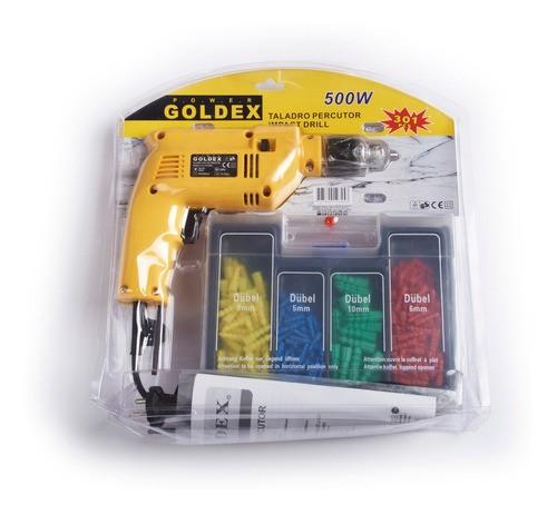 Taladro Percutor Con Accesorios (13mm) En Blister-goldex