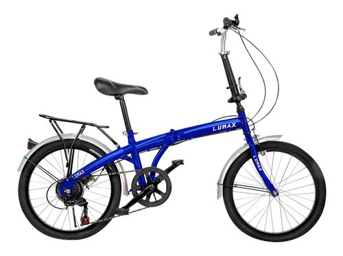 Bicicleta Plegable Rodado 20 Lumax Shimano Parrilla
