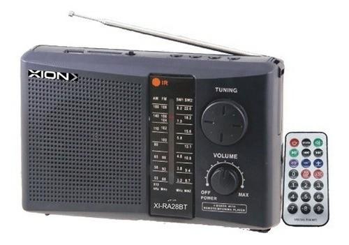 Radio Portatil Xion A Batería Control Bluetooth Antena