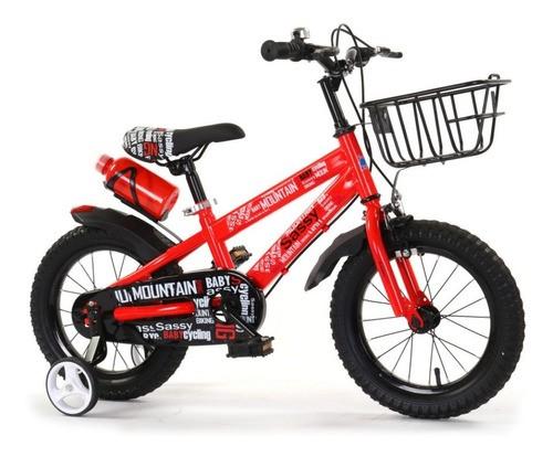 Bicicleta Para Niño Rodado 16 Con Ruedas Auxiliares