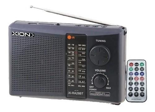 Radio Portatil Xion 7 Bandas Bluetooth Control Remoto