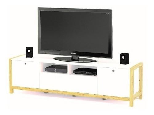 Rack Modular Mesa Tv Mesa Living Comedor Se Da Armado Led 75
