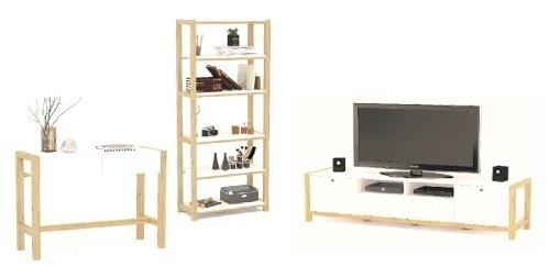 Aparador + Biblioteca + Rack Tv Se Dan Armados Living