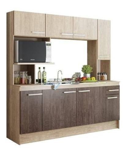 Mueble De Cocina Compacta Napoles Kit Alacena Bajo Mesada