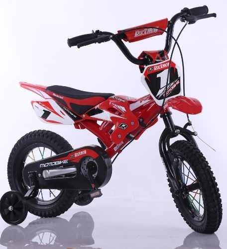 Bicicleta  Motorbike Rodado 16+casco+protectores+inflador Pf