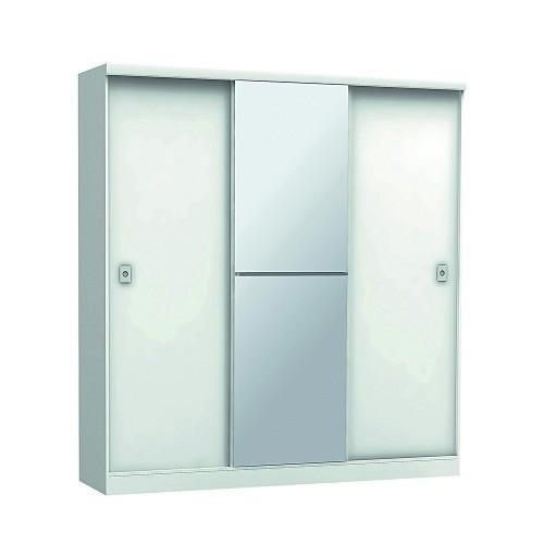 Ropero Placard Tres Puertas Corredizas Espejo Dormitorio