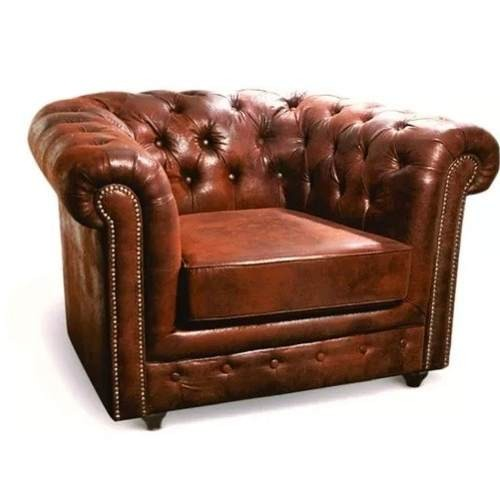 Sillón Sofa Chesterfield 1 Un Cuerpo Microfibra Living