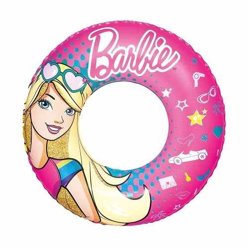 Barbie Aro Salvavidas Flotador Inflable Playa Y Piscina