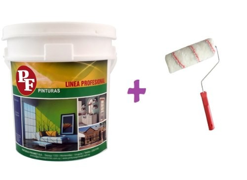 Pintura Latex Pared Interior Anti Hongo20+20lts Pf + Rodillo