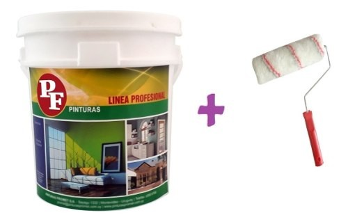 Pintura Latex Pared Interior Anti Hongo 20lts Pf Mas Rodillo