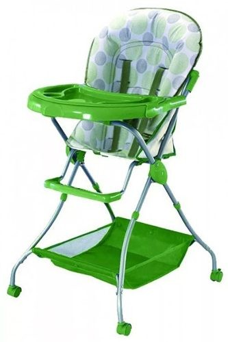 Silla De Comer Para Bebe Plegable Calidad Premium Verde