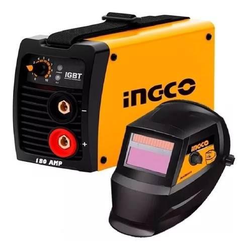 Soldadora Inverter Compacta Ingco Pro 180amp Igbt+ Careta