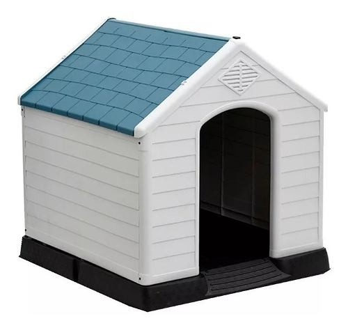 Casa Cucha Casilla Perro Grande Azul Excelente Oferta