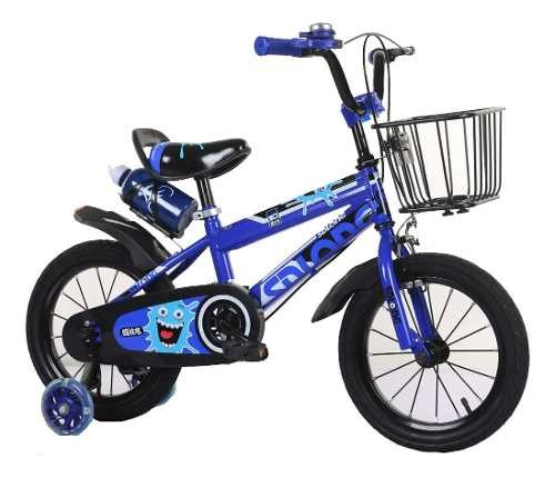 Bicicleta Bici Niño Azul- Rodado 12