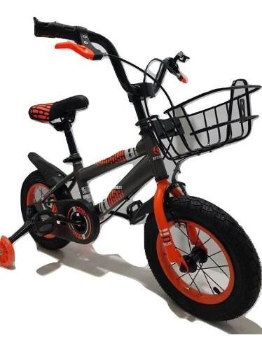 Bicicleta Para De Niño Gris/naranja-