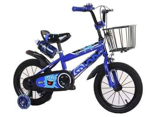 Bici Bicicleta Para Niño Rojo/negro- Rodado 12