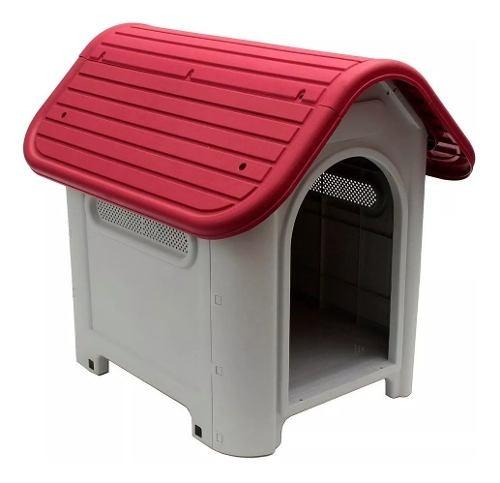 Casa Para Perro Techo Rojo Original Calidad Excelente Oferta