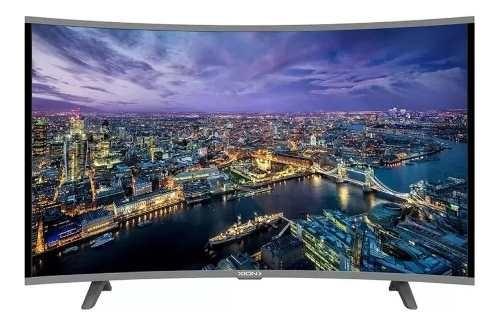 Smart Tv Curvo Led 55 Xion Ultra Hd 4k Wifi Netflix Usb Hdmi