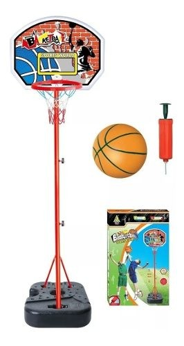 Aro Tablero De Basketball + Pelota + Inflador Niños
