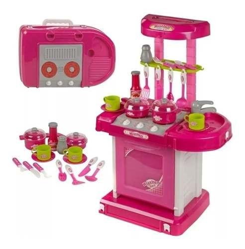 Juego De Cocina Mini Set Completo Juego Juguete Niñas